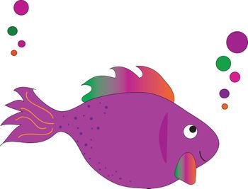 Cute fish cute purple fish clipart clipartfest