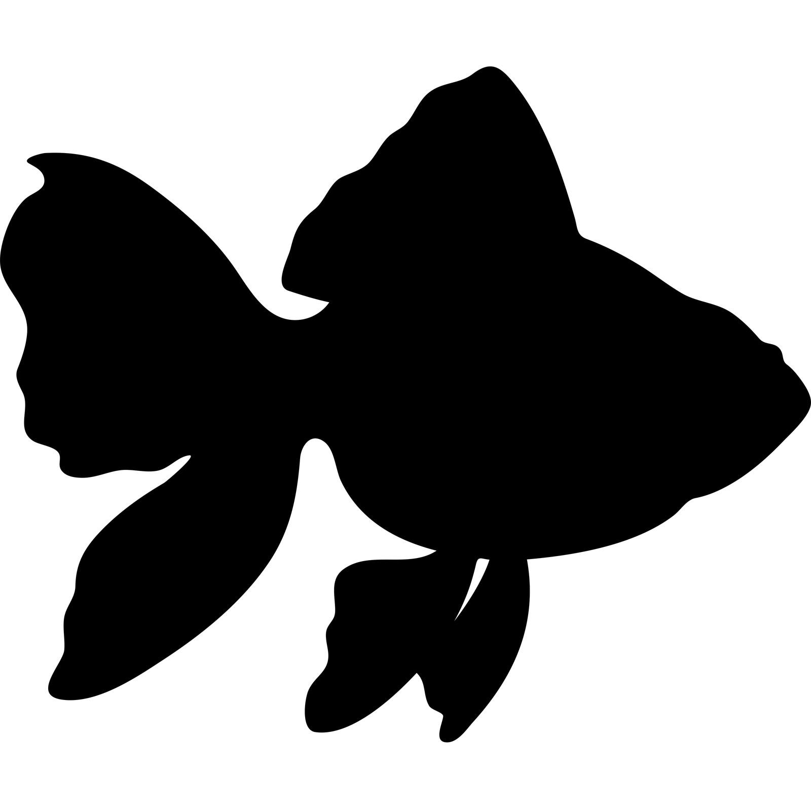 Free silhouette fish.