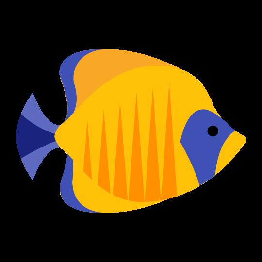 Blue yellow fish.