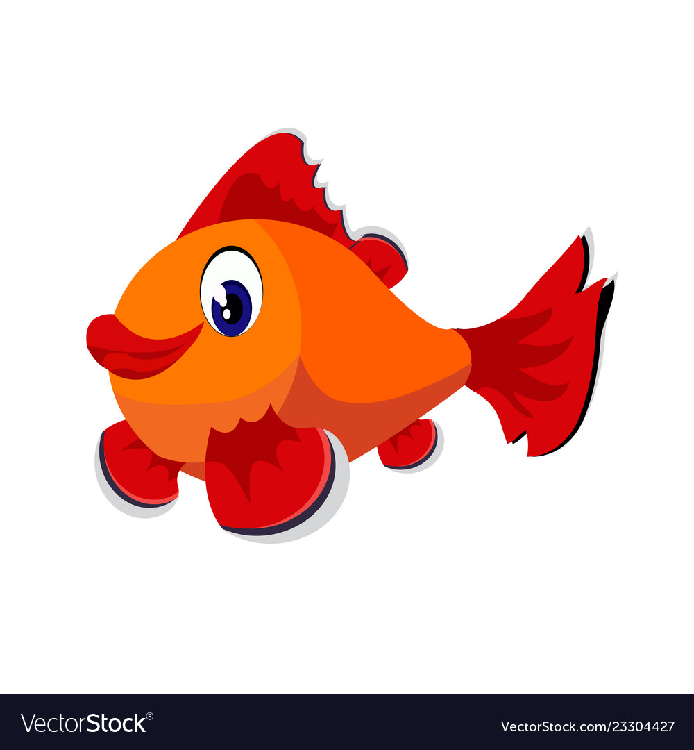 Fish cartoon or fish clipart cartoon isolated on