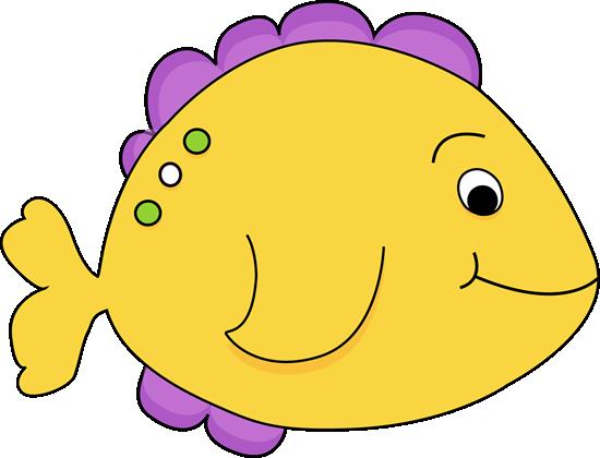 Purple Cartoon Fish
