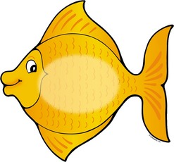 Fish Yellow cliparts image pack with transparent images for