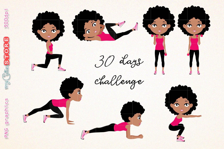 Afro girl fitness.