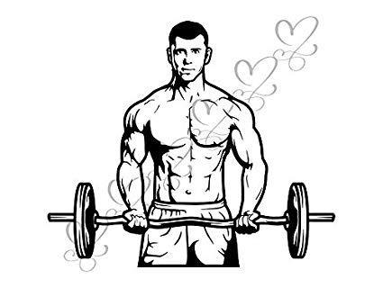 Fitness clipart male. Amazon com yetta quiller