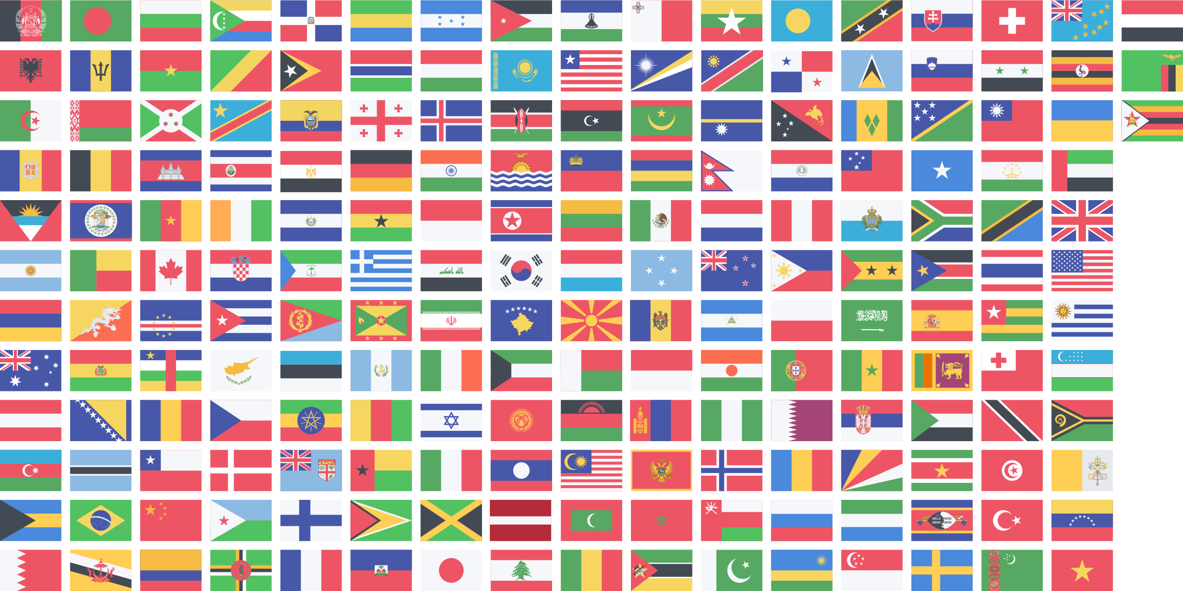 Country flags clipart.