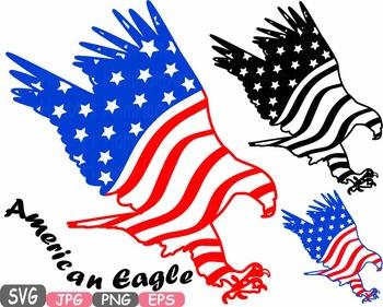 American flag svg eagle.