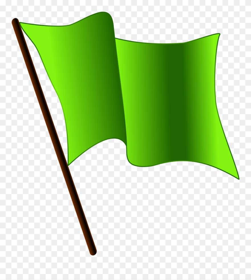 flag clipart green