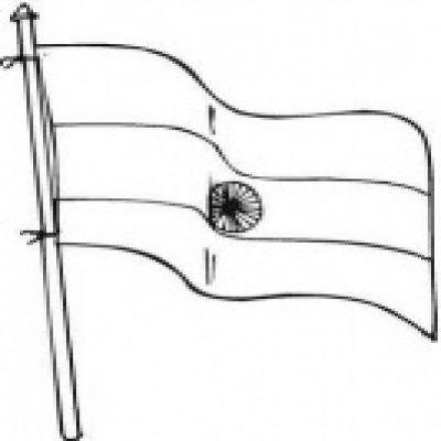 Flag clipart black.