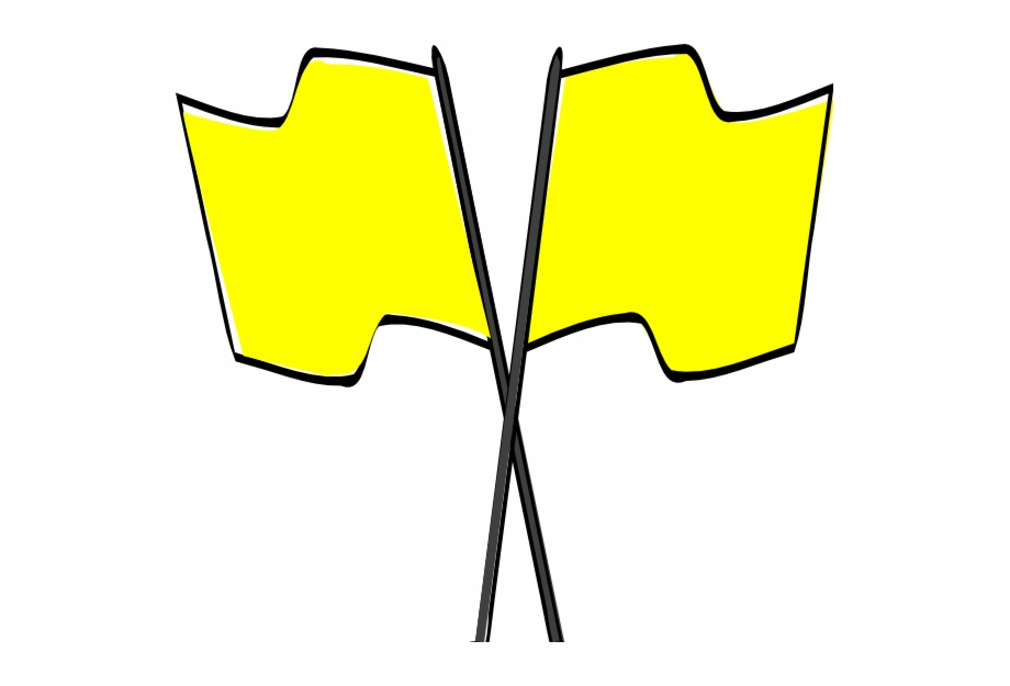 Quantity Of Six Yellow Race Flags With