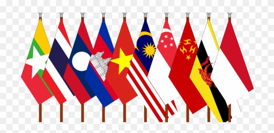 Country flags border.