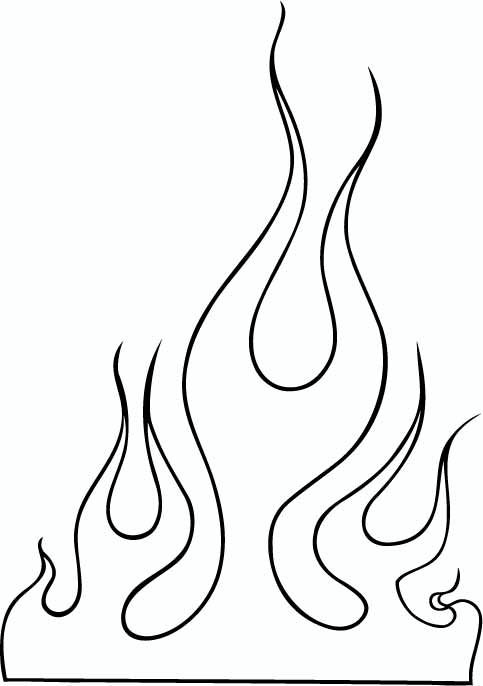 Flame outline images.
