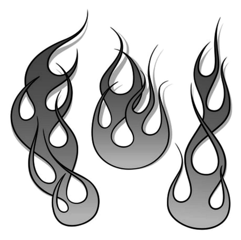 Flame stencil flame.