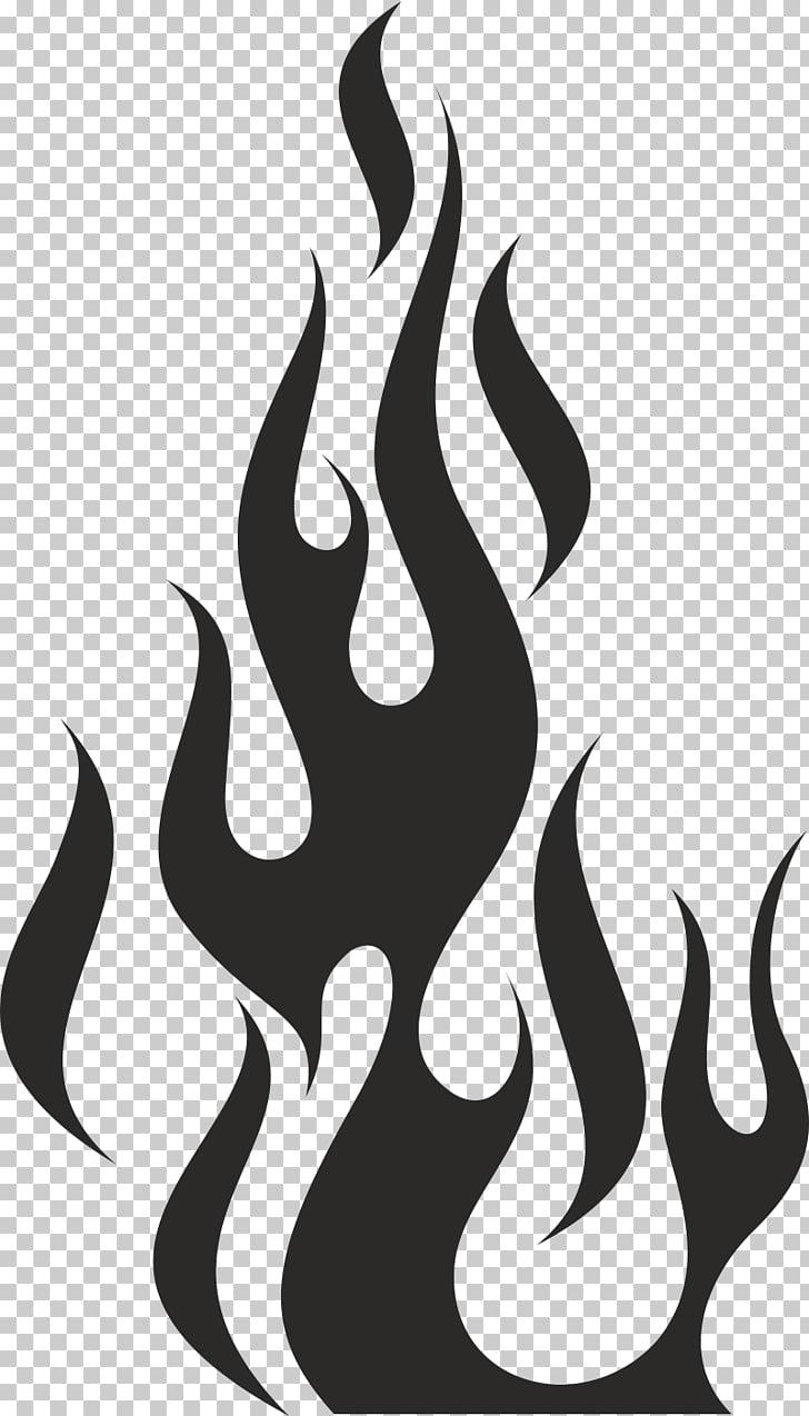 Flame fire stencil.