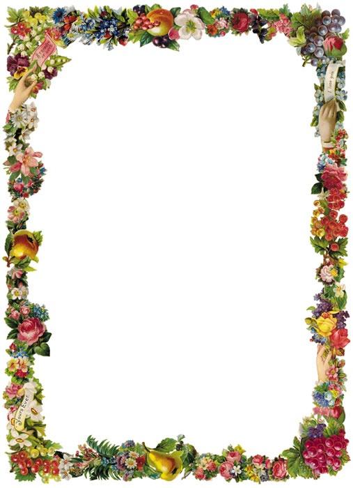Free floral border.