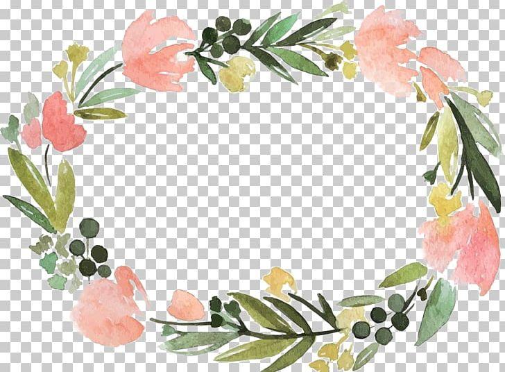 Floral border label.
