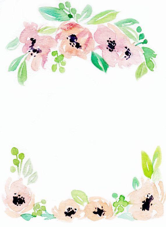 Downloadable floral border.