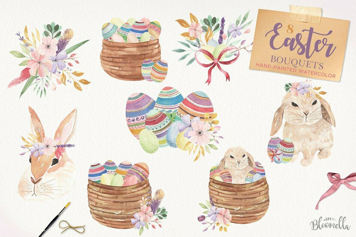 Easter eggs flowers.
