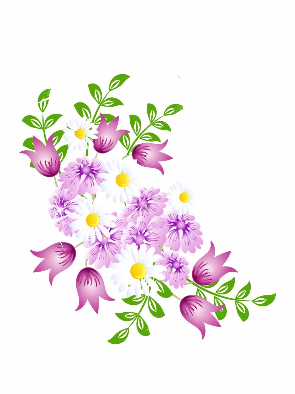 Springtime floral vector.