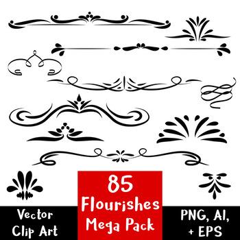 Flourishes clipart mega.