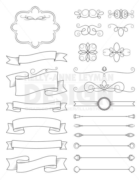 Diy invitation clipart.