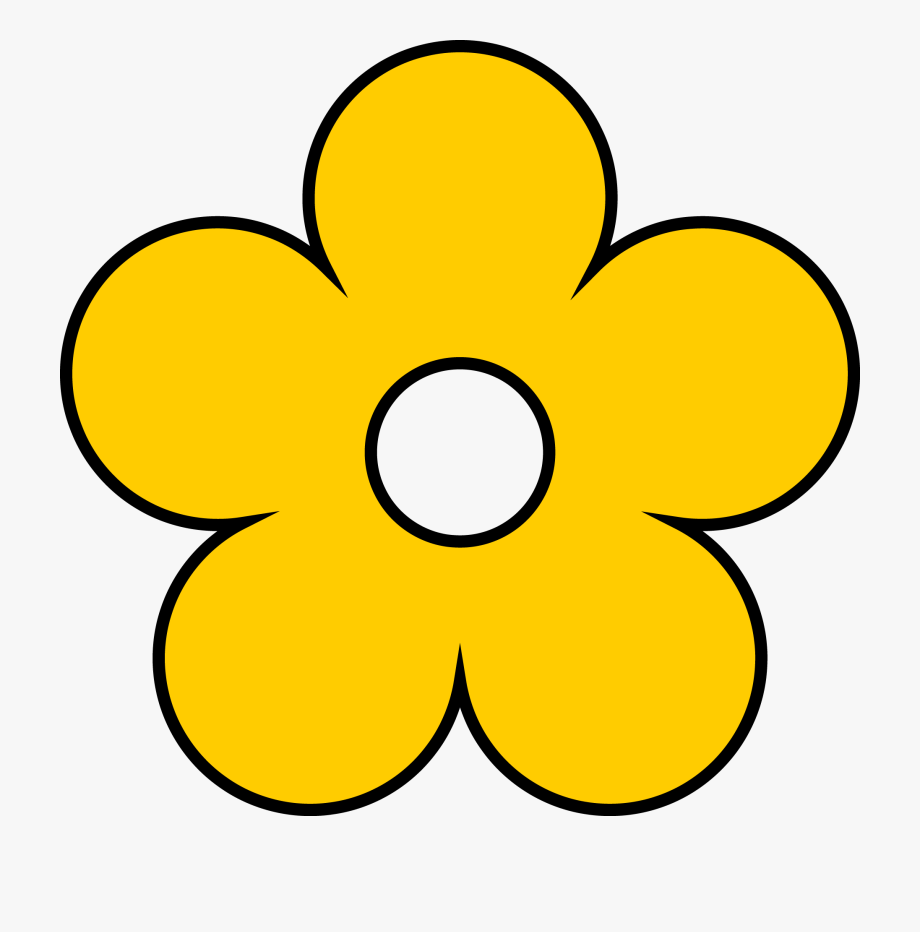 Yellow flowers clipart.