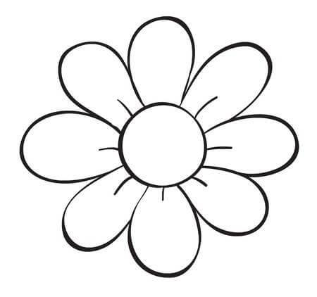 Flower clipart black.