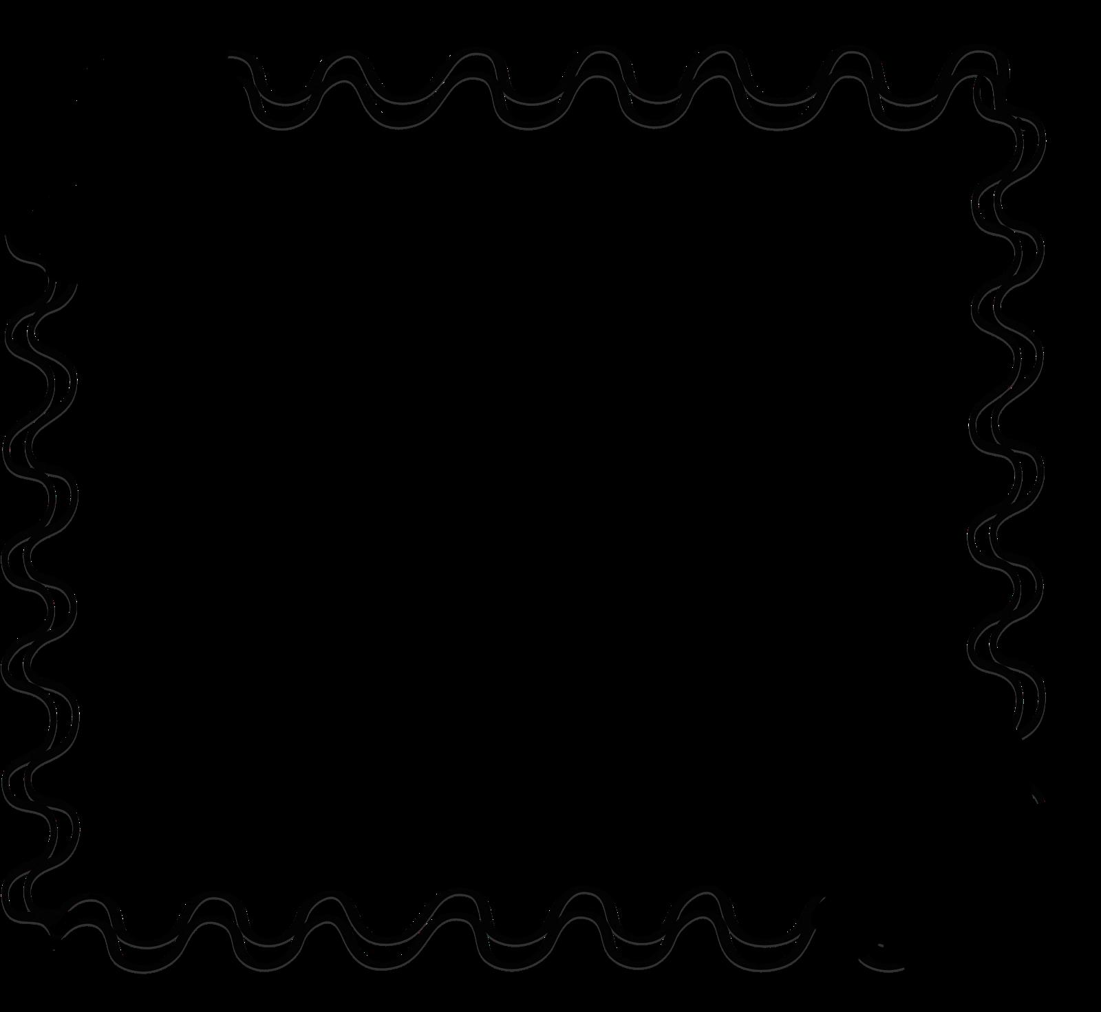 flower clipart black and white frame