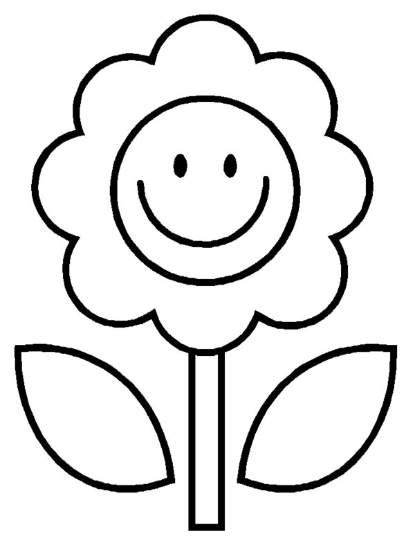Free Black And White Cartoon Flowers, Download Free Clip Art