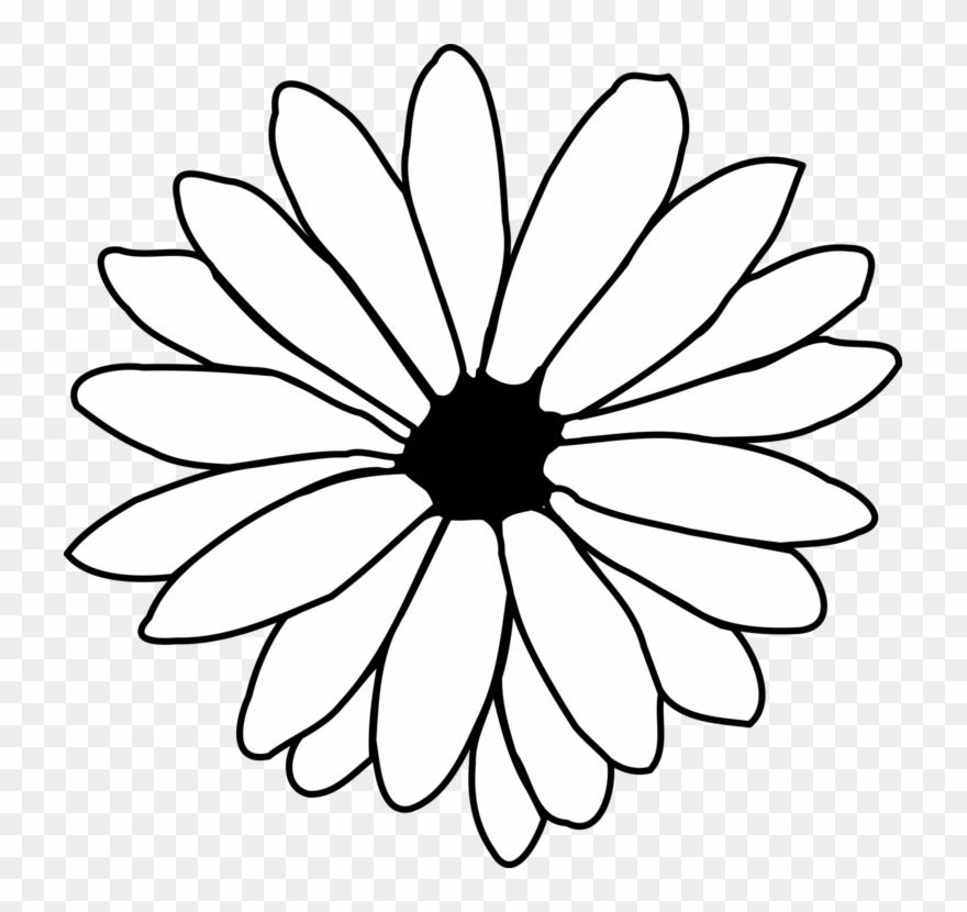 Black daisy cliparts.