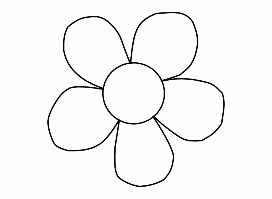 Line art flower.
