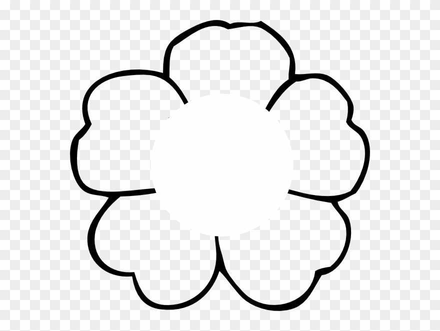 Flower outline print.