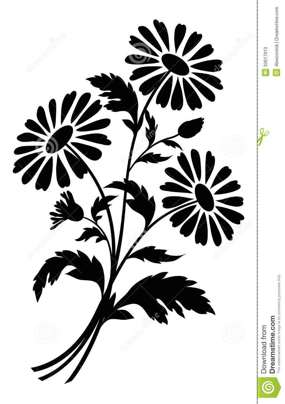 Flowers for black.