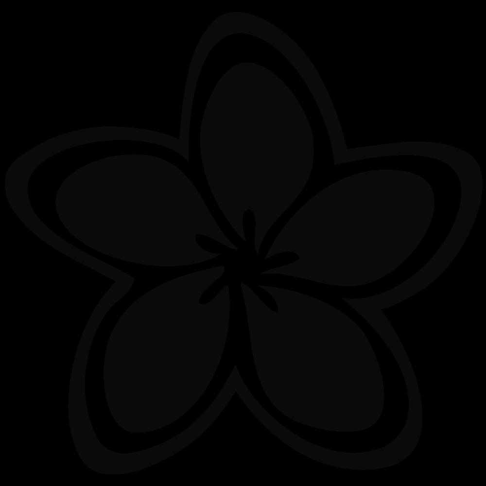 Flower silhouette vector.