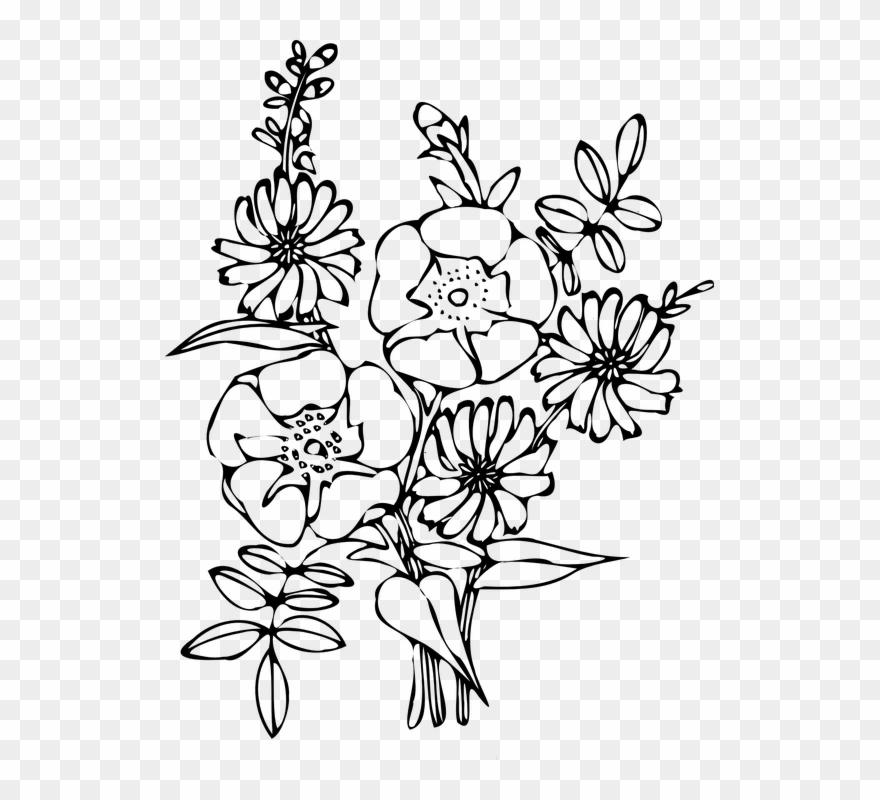 Sunflower coloring page.