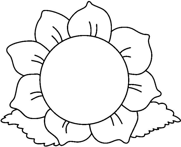 Flower clipart black and white. Sunflower