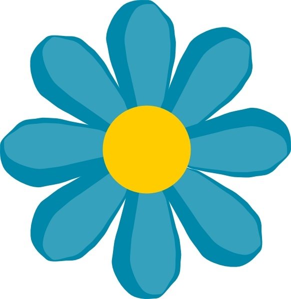 Blue Flower clip art Free vector in Open office drawing svg