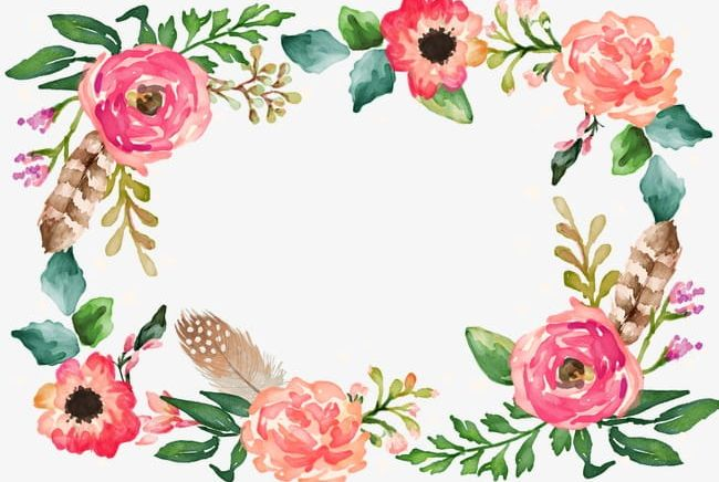 Flower border png.