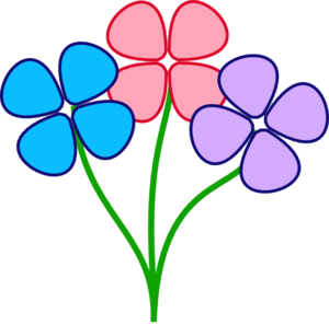 Flower clip art colorful