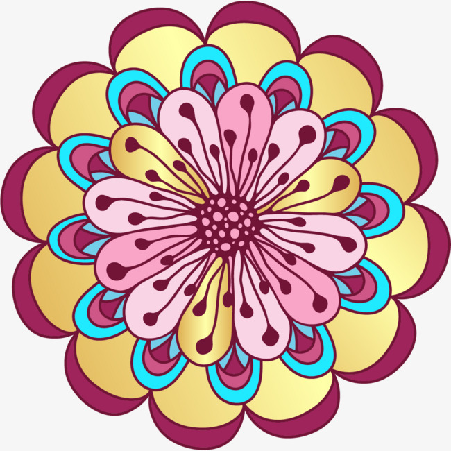 Colorful flower clipart