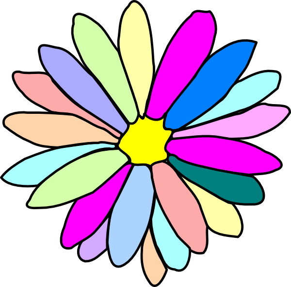 Colorful flower clip.