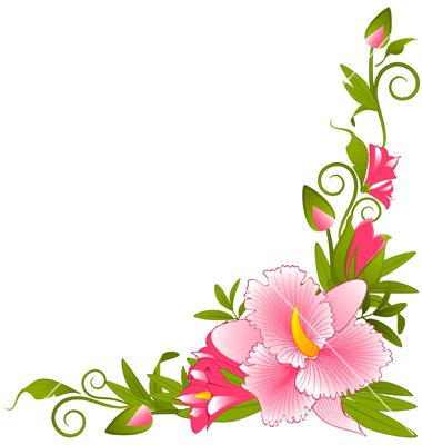Flower border vector.