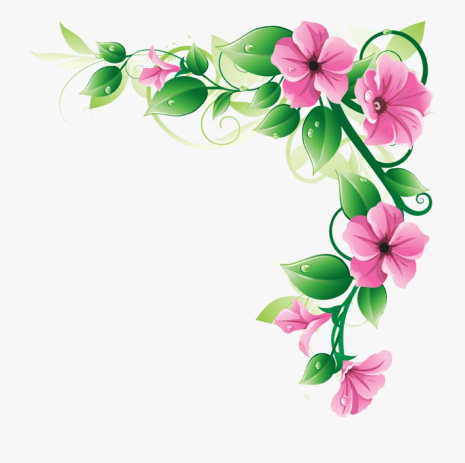 Pink flower border.