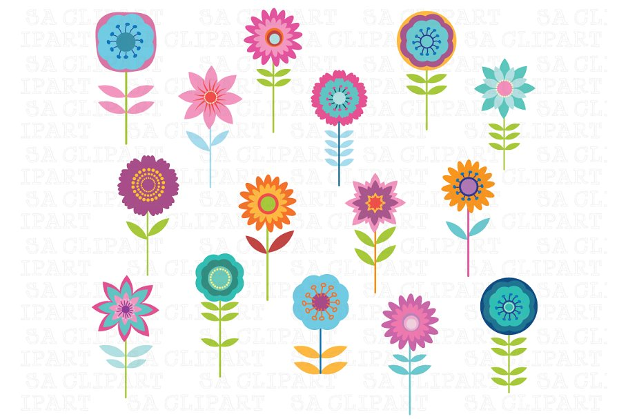 Cute Flower Clipart