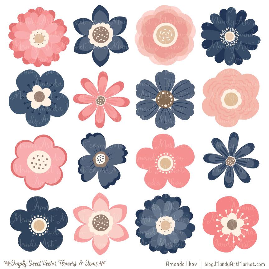 Navy blush flower.