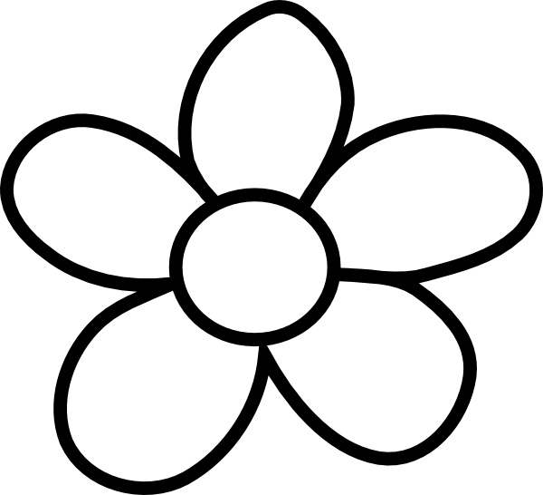 Free flower outline.