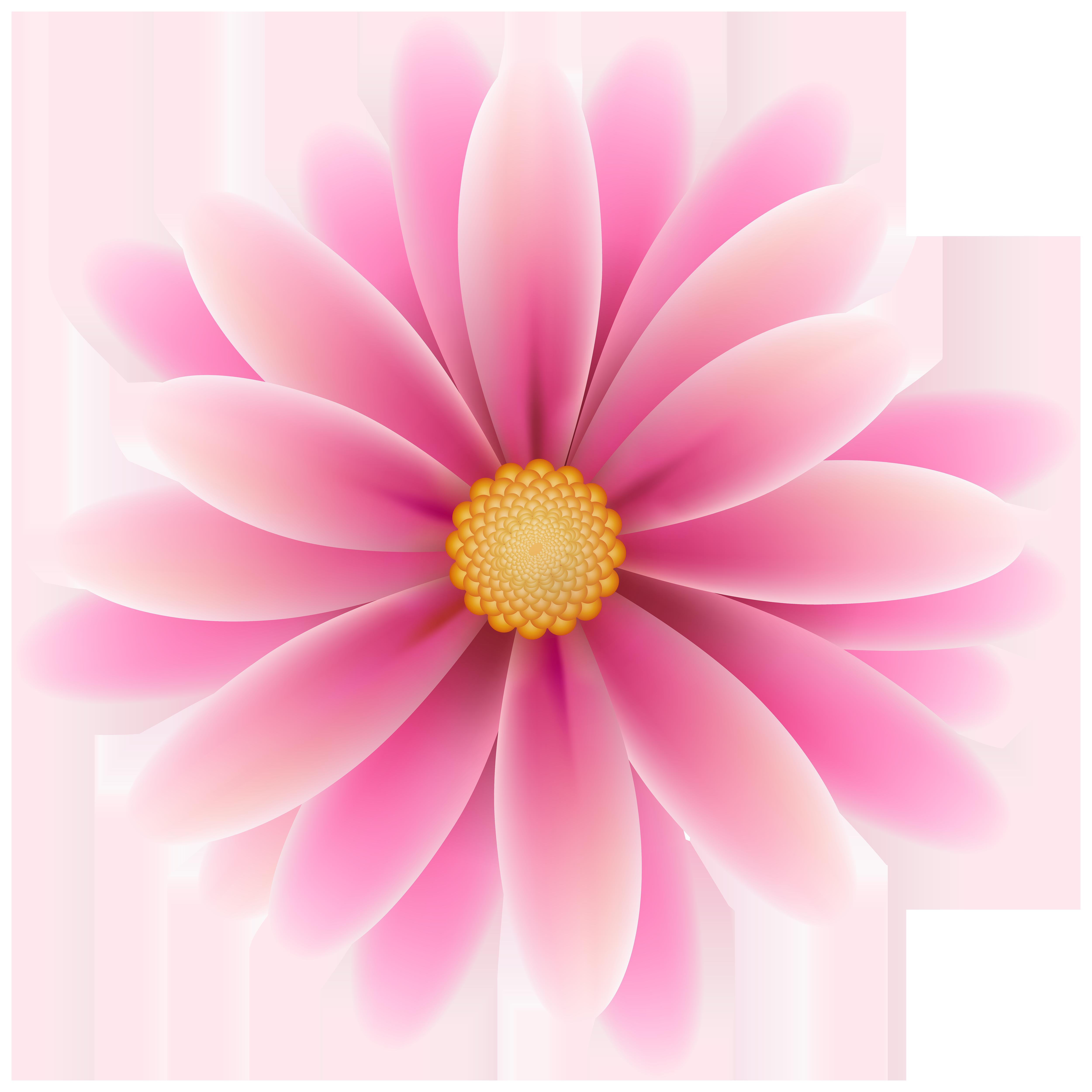 Pink flower clip.