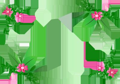 Free flower border.