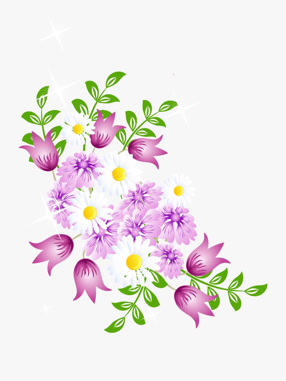 Spring flower border.
