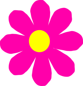 Pretty Pink Flower Clip Art at Clker