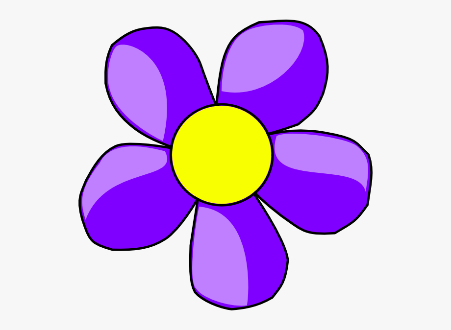 Flower clipart purple.